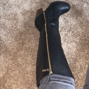 Bebe Black Over The Knee Boots